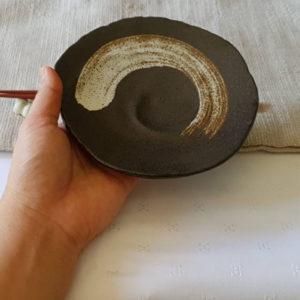 Mino ware plate 15cm: Nami