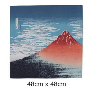 Handmade Furoshiki cloth: Ukiyoe Akafuji