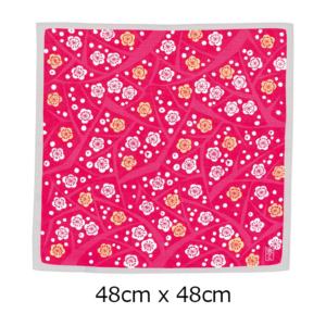 Furoshiki cloth: Vivid Ume apricot