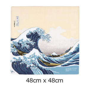 Handmade Furoshiki cloth: Ukiyoe The great wave of Kanagawa