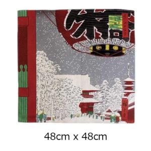 Handmade Furoshiki cloth: Ukiyoe Kinryuzan temple Asakusa
