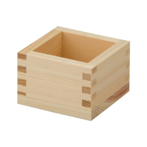Masu: Square wooden box/cup