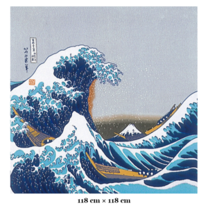 XL Furoshiki cloth: Ukiyoe The great wave of Kanagawa