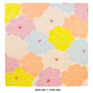 Large Handmade Furoshiki cloth Organic cotton: Peony Pink