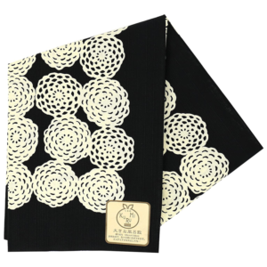 Large Furoshiki cloth: Chrysanthemum Black