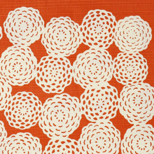 Large Furoshiki cloth: Chrysanthemum Orange