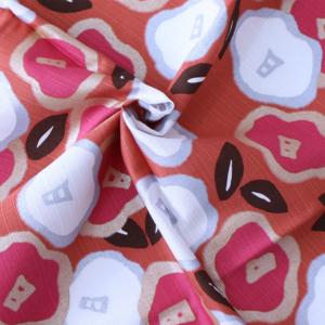 Large Furoshiki cloth: Tsubaki camellia Orange