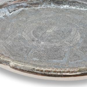 Large Mino ware plate Shino