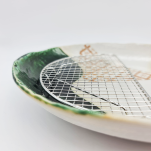 Mino ware Plate 24cm: Oribe shino