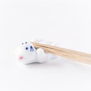Mino ware: Cat Chopsticks rest Pink