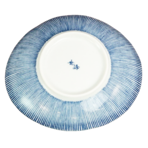 Mino ware: Medium ellipse plate