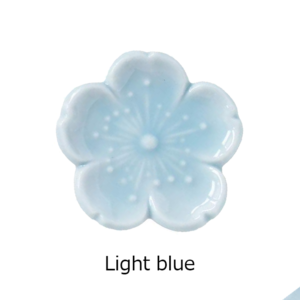 Mino ware: Sakura Chopsticks rest light blue