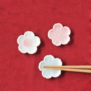 Mino ware: Sakura Chopsticks rest pink white