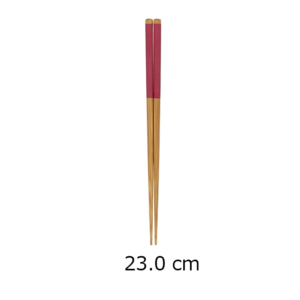 Wakasa lacquered chopsticks: Matt red