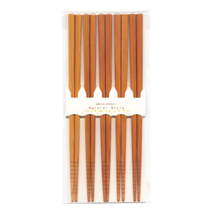 Wakasa lacquered chopsticks: Natural 5 sets