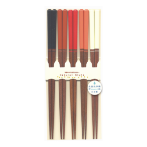 Wakasa lacquered chopsticks:  Colorful 5 sets
