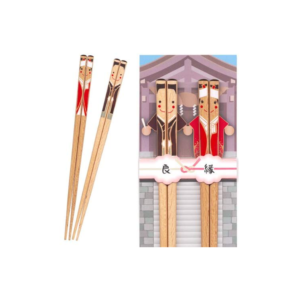 Wakasa lacquered chopsticks: Happy Kimono couple
