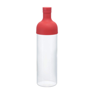 Hario glass bottle for cold tea: Red