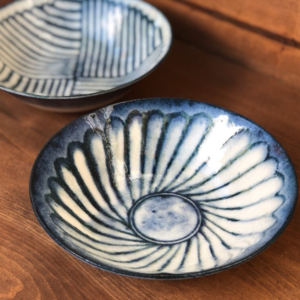 Mino ware Bowl 17cm: Kohiki Flower