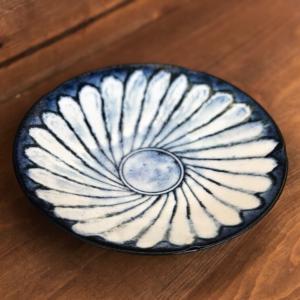 Mino ware Deep Plate 22.3cm: Kohiki Flower