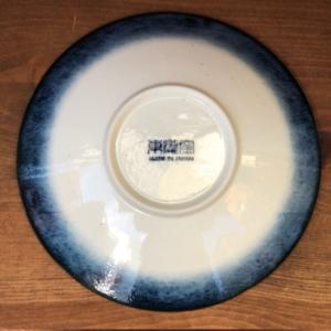 Mino ware Deep Plate 22.3cm: Kohiki Stripe
