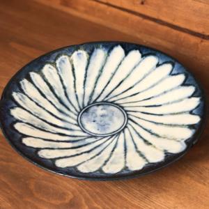 Mino ware Deep Plate 24cm: Kohiki Flower