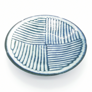 Mino ware Deep Plate 24cm: Kohiki Stripe