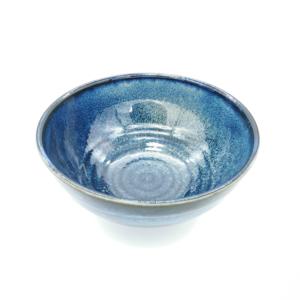 Mino ware Domburi 18,5cm: Blue Sanuki
