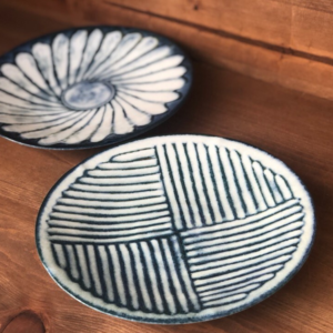 Mino ware Plate 16.5cm: Kohiki Stripe