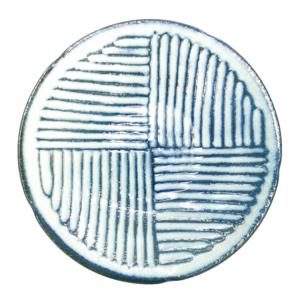 Mino ware Plate 22cm: Kohiki Stripe