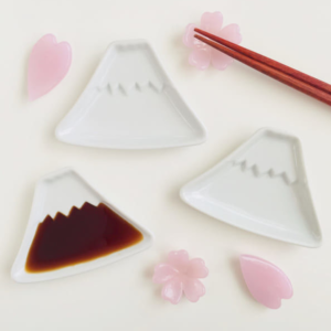 Mino ware plate 10cm: Mt. Fuji