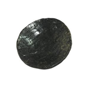 Mino ware plate 13,5cm: Fumon Black