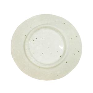 Mino ware plate 13,5cm: Fumon White