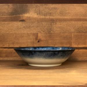 Mino ware shallow Bowl 16,5cm: Kohiki Flower
