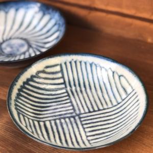 Mino ware shallow Bowl 16,5cm: Kohiki Stripe