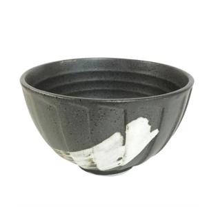 Mino ware Domburi 12.5cm: Nagomi Black
