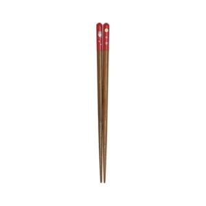 Wakasa lacquered chopsticks: Owl red