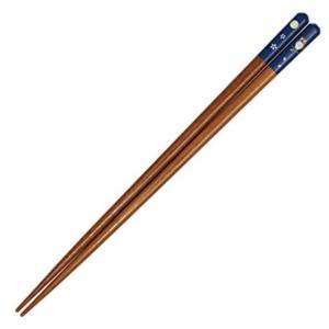Wakasa lacquered chopsticks: Owl blue
